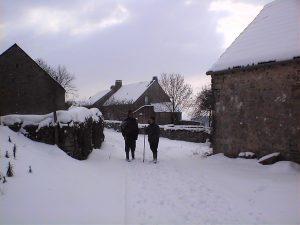 Randonnée en hiver autour du gîte l'Hirondelle